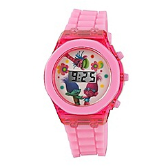 Batman - Children's Digital Display Watch, with a pink strap and a pink dial trol3