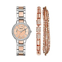 Fossil - Ladies watch and bracelet boxset es4137set