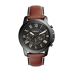 Fossil - Men's Chronograph leather watch fs5241