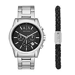 Armani Exchange - Chronograph watch with leather bracelet