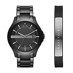 Armani Exchange - Mens watch and bracelet gift set