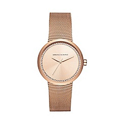 Armani Exchange - Ladies rose gold watch ax4503
