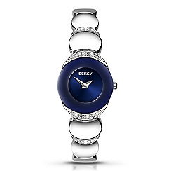 Seksy - Seksy Sapphire ladies silver coloured fashion watch 2295.37