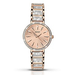 Seksy - Ladies rose gold plated stone set fashion watch 2372.37