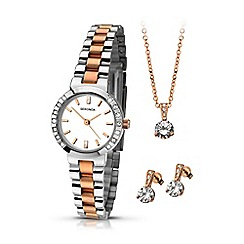 Sekonda - Ladies two-tone watch, pendant & earrings gift set 2353g.76