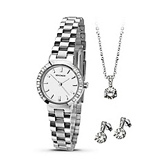 Sekonda - Ladies silver coloured watch, pendant & earrings gift set 2351g.76