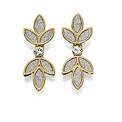 Fiorelli - Silver glitter and gold flower drop earrings