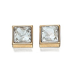 Fiorelli - Crystal and gold square stud earrings