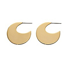 Fiorelli - Gold disc hoop earrings