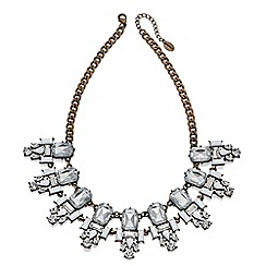 Fiorelli - Crystal and white stone set cluster collar necklace