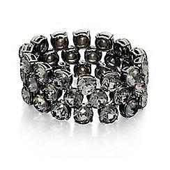 Fiorelli - Gunmetal stone set stretch bracelet