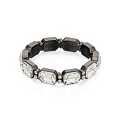 Fiorelli - Gunmetal Oval crystal stretch bracelet