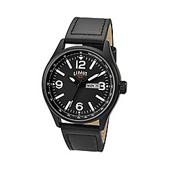 Limit - Men's black date strap watch