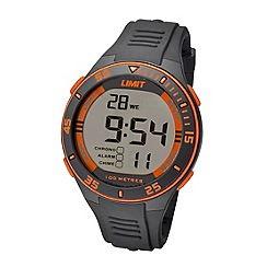Limit - Unisex grey digital silicone strap watch