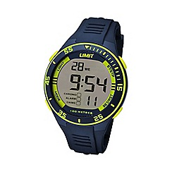 Limit - Unisex navy digital silicone strap watch