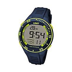 Limit - Unisex navy digital silicone strap watch