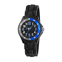 Tikkers - Time Teacher Black Silicone Strap Watch