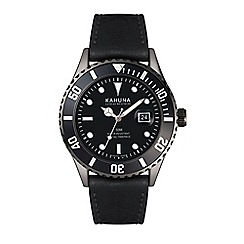 Kahuna - Men's watch with black dial, black bezel and black strap