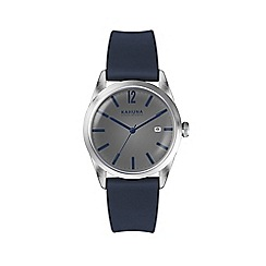 Kahuna - Men's blue silicone strap watch with grey dial