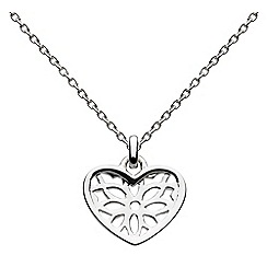 Dew - Sterling Silver Talisman Heart Necklace