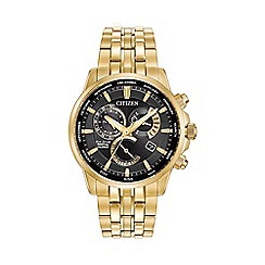 Citizen - Men's gold tone perpetual calendar bracelet watch bl8142-50e