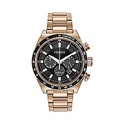 Citizen - Men's rose gold tone sport chronograph bracelet watch ca4203-54e