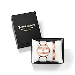 Juicy Couture - Ladies white and rose gold strap watch