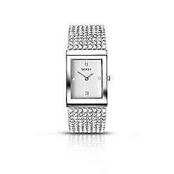 Seksy - Ladies silver coloured stone set bracelet watch