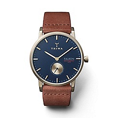 Triwa - Unisex blue 3-hand watch with leather strap