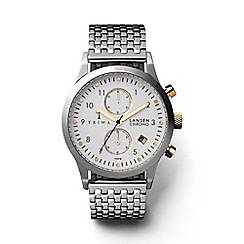 Triwa - Unisex silver and gold chronograph watch with stainless steel bracelet