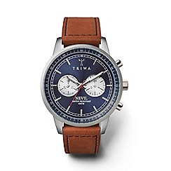 Triwa - Unisex blue chronograph watch with leather strap