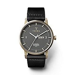 Triwa - Unisex dark gray 3-hand watch with leather strap