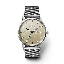Triwa - Unisex sunray gold 3-hand watch with stainless steel mesh strap