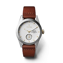 Triwa - Ladies white 3-hand watch with leather strap