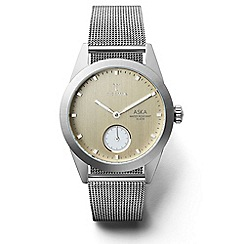 Triwa - Ladies sunray gold 3-hand watch with stainless steel mesh strap