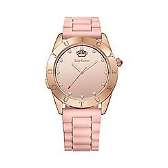 Juicy Couture - Ladies gold plated case with pink silicone strap smart watch