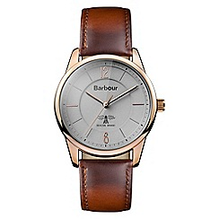 Barbour - Gents brown quartz strap watch