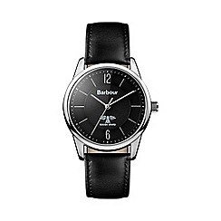 Barbour - Gents black quartz strap watch