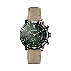 Barbour - Gents tan quartz strap watch