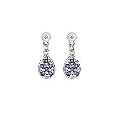 Hot Diamonds - Silver swing teardrops amethyst earrings