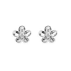 Hot Diamonds - Silver daisy earrings