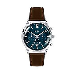 Henry London - Henry london knightsbridge black leather strap watch