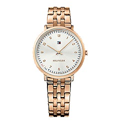 Tommy Hilfiger - Ladies rose gold 2 hand bracelet watch