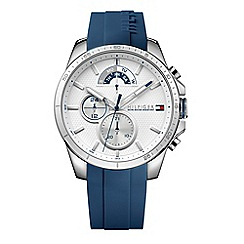 Tommy Hilfiger - Men's blue multi-function silicone strap watch