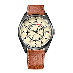 Tommy Hilfiger - Men's tan leather strap watch