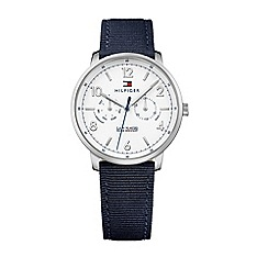 Tommy Hilfiger - Men's blue multi-eye dial nylon fabric strap watch