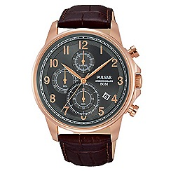 Pulsar - Gents chronograph grey dial strap watch