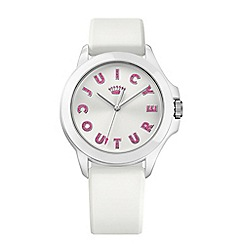 Juicy Couture - Ladies white silicone strap with white dial