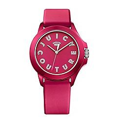 Juicy Couture - Ladies pink silicone strap with pink dial