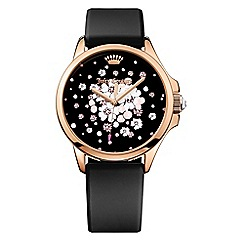 Juicy Couture - Ladies black silicone strap with multi dial